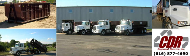 Dumpster Sizes in Grand Rapids and W. Michigan from CDR Disposal Services
